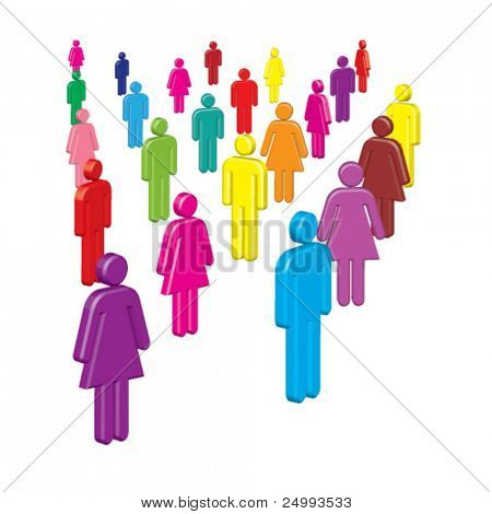 Vector Colorful People (Diversity)