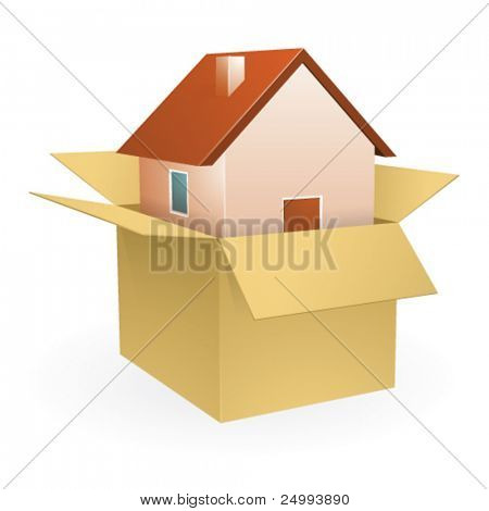 Vector Un-boxing New Home - Icon