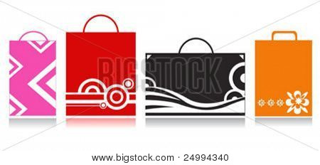 shopping bags. Path included