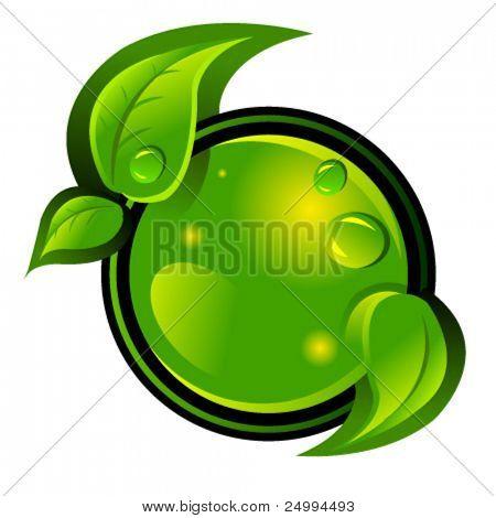 eco green vector icon