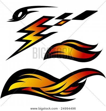 auto moto abstract vector icons