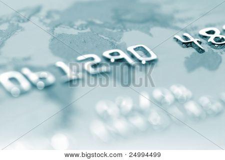 Makro-Aufnahme einer Kreditkarte. Ideal für den Hintergrund verwendet
