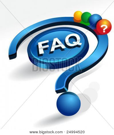 frequently asked questions vector icon