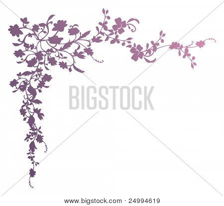 Decorative floral element