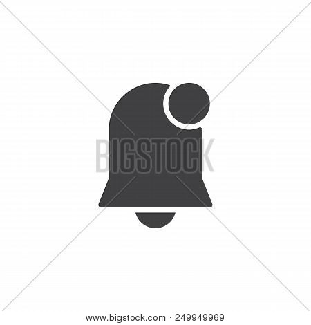 Notification Bell Vector Icon. Filled Flat Sign For Mobile Concept And Web Design. New Notification