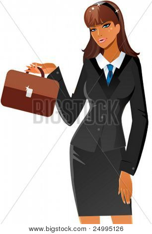 Cute lady in business suit