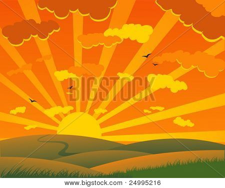 Zonsondergang zomer