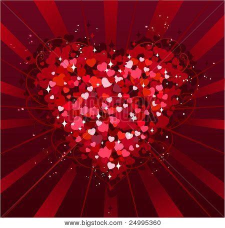 Fundo de dia de na São Valentim