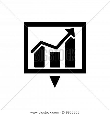 Download Business Statistics Vector Icon Flat Style Illustration For Web, Mobile, Logo, Application