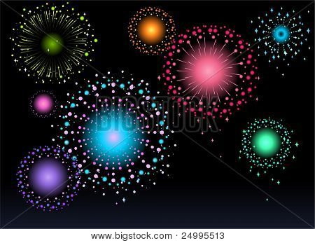 Firework at night