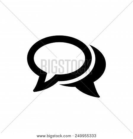 Chatting Speech Bubbles Vector Icon Flat Style Illustration For Web, Mobile, Logo, Application And G