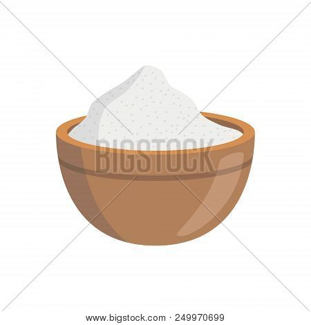 Vector Salt Illustration Isolated In Cartoon Style. Herbs And Species Series