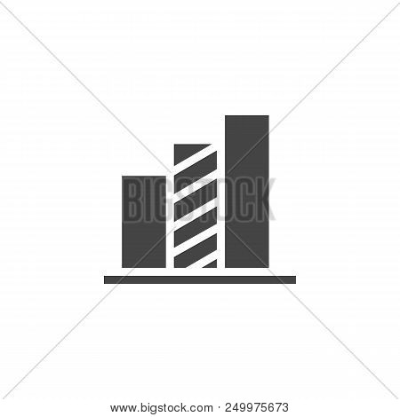 Chart Icon In Glyph Design. Infographic Element Or Label For Presentation, Business Report, Progress