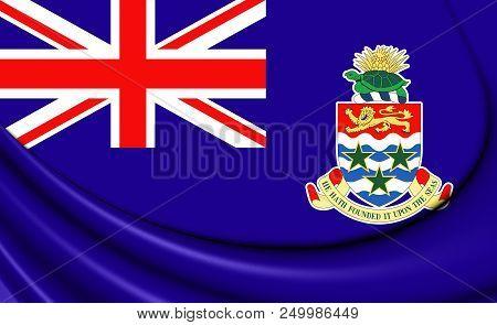 3d Flag Of The Cayman Islands. 3d Illustration.