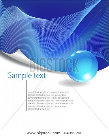 Blue Abstract Background with free space for text, vector illustration.