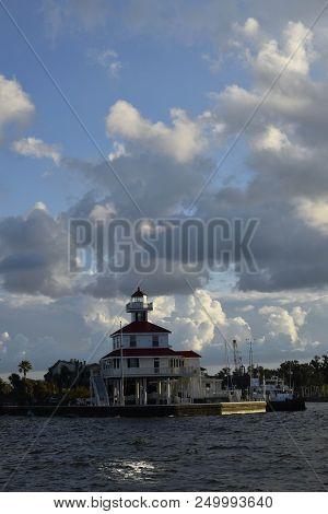 Lighthouse Lake Pontchartrain Near New Orleans, Louisiana