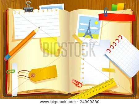 Vector illustration of the notebook
