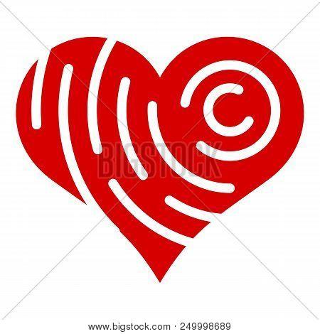 Company Brand Heart Icon. Simple Illustration Of Company Brand Heart Vector Icon For Web Design Isol