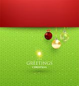 elegant christmas background with baubles poster