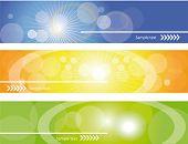 Site headers , vector eps10. poster