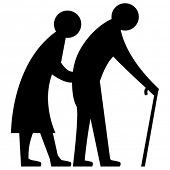 Vector Elderly Couple poster
