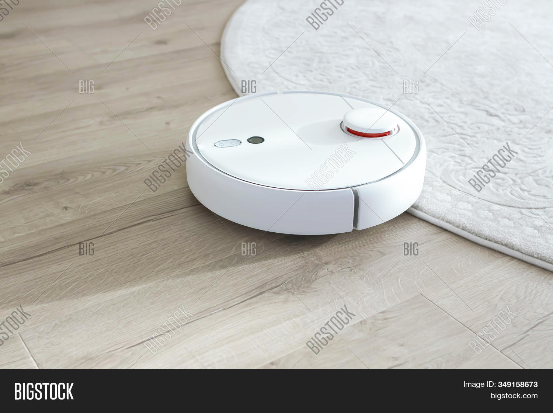 White Robot Vacuum Image Photo Free