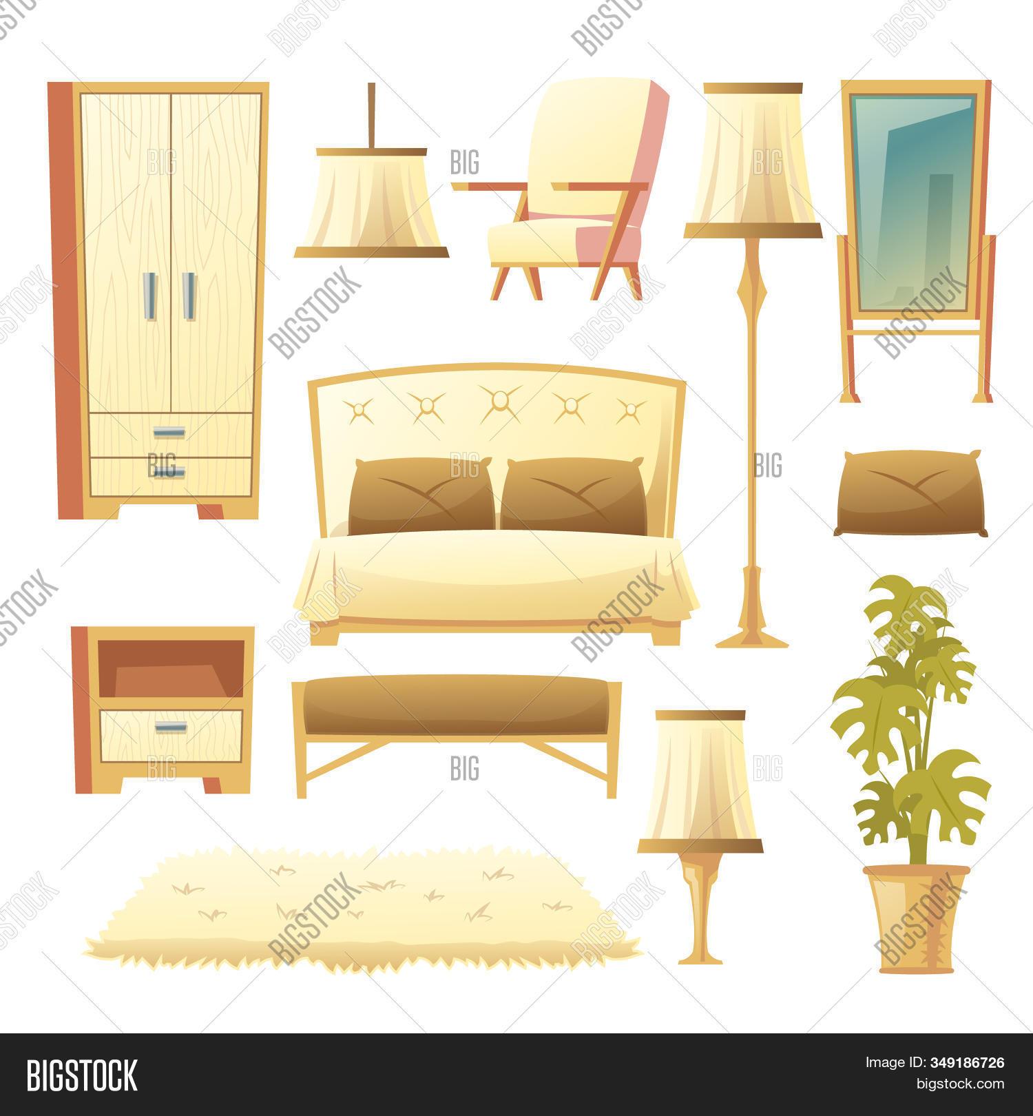 Cartoon Set Bedroom Image Photo Free Trial Bigstock