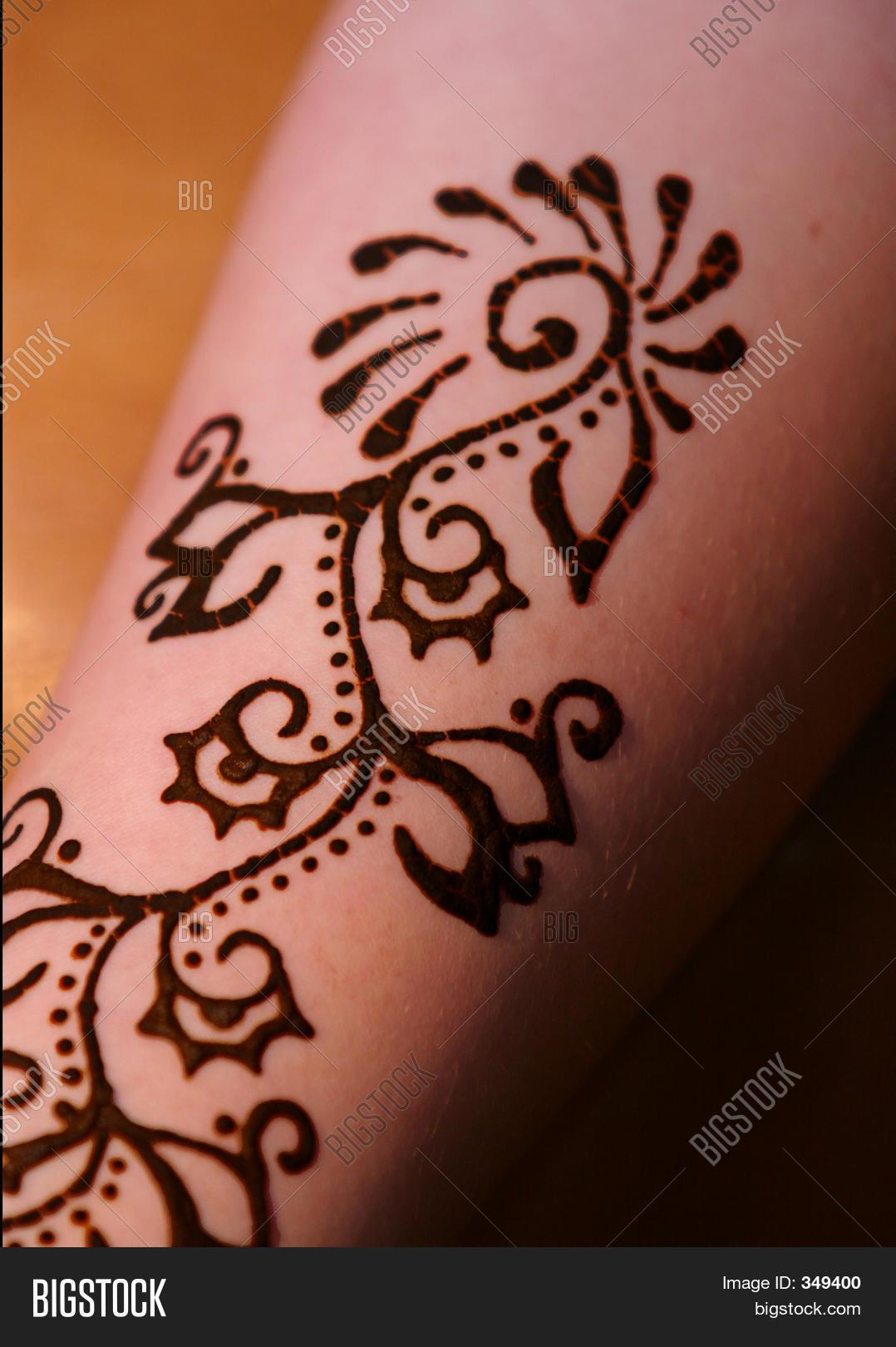 Henna Tattoo On Image Photo Free Trial Bigstock