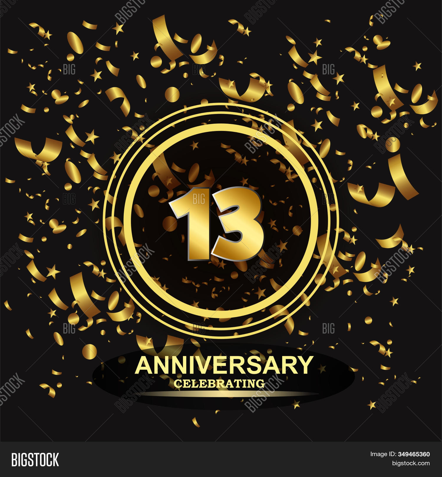 13 Year Anniversary Vector Photo Free Trial Bigstock