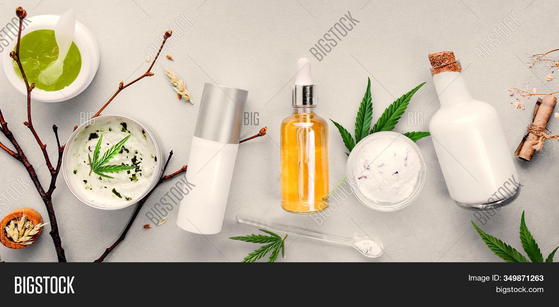 Cosmetics Cannabis Cbd Image Photo Free Trial Bigstock
