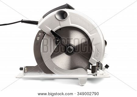 Electric Circular Saw.circular Saw Is Designed For Cutting Wood And Plastic. Object Is Isolated On W