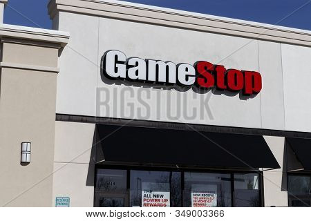 Muncie - Circa February 2020: Gamestop Stripmall Location. Gamestop Is A Video Game And Electronics