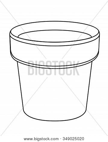 Empty Flower Pot - Vector Template. Cache-pot For Indoor Plants - A Subject For Gardening - A Vector