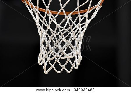 Rio, Brazil - February 03, 2020: Net In Match Between Flamengo And Cearense By The Brazilian Basketb