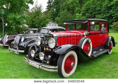 BADEN-BADEN, GERMANY  JULY 13:  ROLLS-ROYCE PHANTOM (1934)  at The International Exhibition of old cars