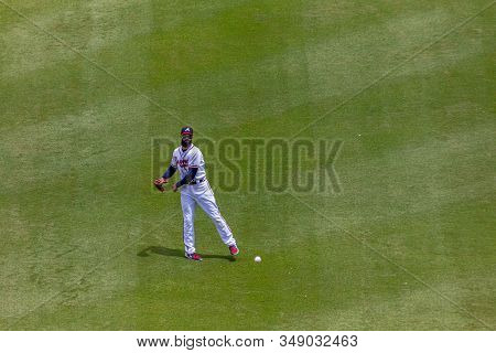 Atlanta, Georgia - June 13, 2019: Suntrust Park Is A Baseball Park Located In Atlanta Area. It Is Th
