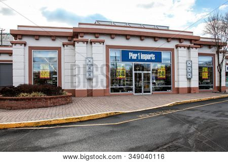 NORWALK, CT - FEBRUARY  03, 2020:  Pier 1 Imports is closing hundreds of stores. One in 777 Connecticut Av. store in Norwalk is closing also.