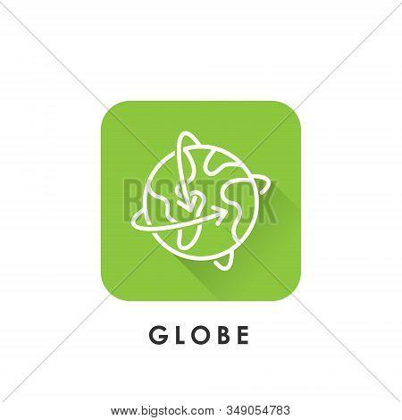World Globe. Globe icon. Globe vector. Globe icon vector. Globe logo. Globe symbol. Globe web icon. World vector. Globe icon isolated on white background. World globe vector icon modern and simple flat symbol for website, mobile, logo, app, UI.