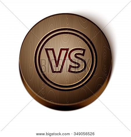 Brown Line Vs Versus Battle Icon Isolated On White Background. Competition Vs Match Game, Martial Ba