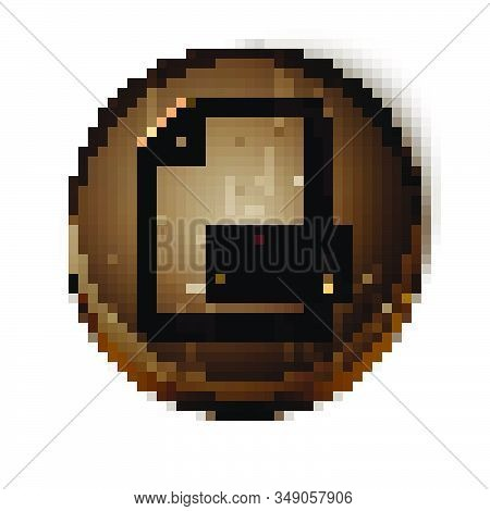 Brown Line Pdf File Document. Download Pdf Button Icon Isolated On White Background. Pdf File Symbol
