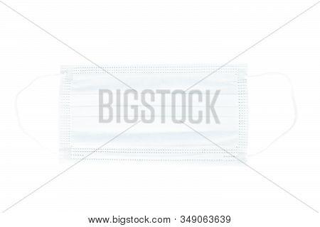 Surgical Mask Protection Corona Virus On White Background.