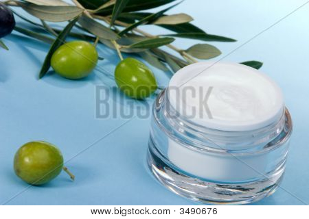 Face Cream And Olive Twig