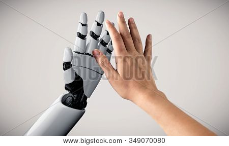 Future Artificial Intelligence Robot And Cyborg.