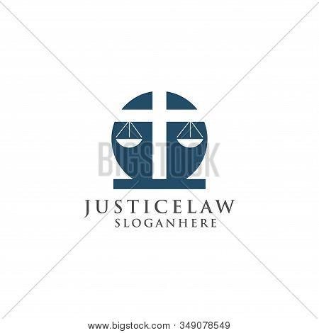 Justice Law Logo Design Template. Attorney Logo