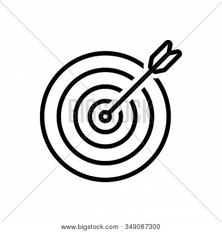 Black Line Icon For Purpose Objective Aim Goal Darts Arrows Target  Darts-board