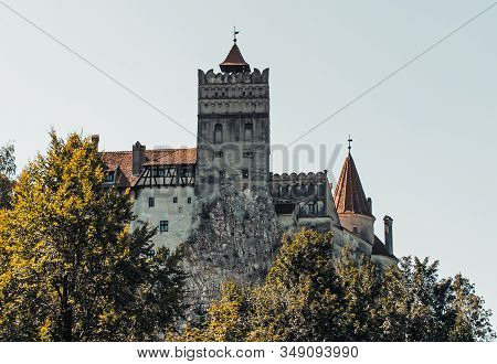 Bran Castle In Romania, Transylvania. Romania, Bran. September, 15, 2019