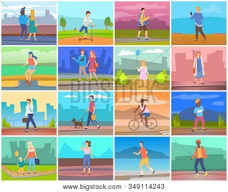 People Going Outdoor Vector & Photo (Free Trial)   Bigstock