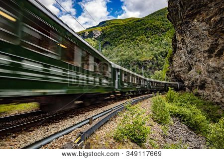 Flam Line (Norwegian Flamsbana) is a long railway tourism line between Myrdal and Flam in Aurland, Norway.
