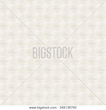 Vector Woven Threads Design In Gold On White Background Seamless Repeat Pattern. Background For Text