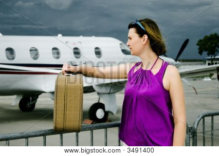 Woman And Airpalne